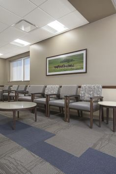 Alegent Lakeside Clinic in Omaha, Ne. Waiting room furniture and framed art detail shot. Framed art and architectural photography by Kurt Jo...