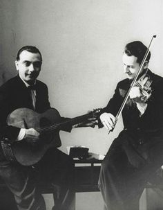 Django Reinhardt and Stephane Grappelli,  1935