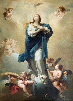 This work, attributed to Mariano Salvador Maella, represents one of the most popular and repeated themes of Spanish painting, Immaculate. Blessed Mother Mary, Blessed Virgin Mary, Catholic Art, Religious Art, Assumption Of Mary, Roman Church, Queen Of Heaven, Great Works Of Art, Mama Mary