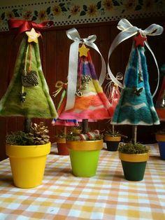 #xmastrees #woolytrees #felt By Emi Porzia
