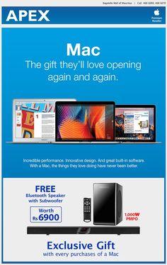 APEX - Mac Exclusive Gift. Tel: 468 8269 / 468 8270