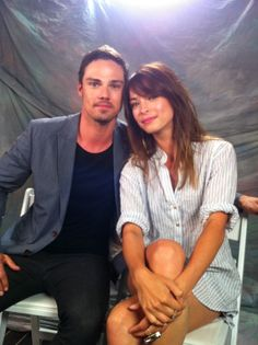 #BatBsdcc JAY & KRISTEN at comic-con San Diego just before their panel on Thurs July 18, 2013
