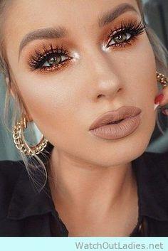 Anastasia Beverly Hills Liquid Lipstick with orange eye shadow