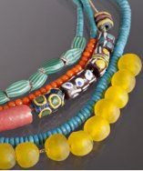 African trade beads...