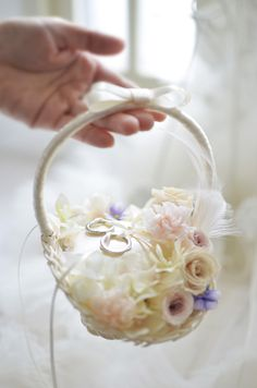 elegant wedding ring basket, white and dusty rose wedding color palettes, wedding hairstyles, wedding invitations, wedding decorations Tiffany Wedding Rings, Elegant Wedding Rings, Wedding Crafts, Diy Wedding, Wedding Decorations, Wedding Pillows, Ring Pillow Wedding, Engagement Ring Platter, Dusty Rose Wedding
