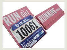 Running medals display and race bibs display by running on the wall, http://www.amazon.com/dp/B009VO8TE0/ref=cm_sw_r_pi_dp_Kw7bsb0Z7ME18