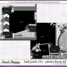 Cindy's Layered Templates - Half Pack 101: Photo Focus 45 by Cindy Schneider