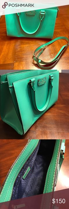 Kate Spade tote Spring Green Kate Spade tote in mint condition! Has been kept in original dust bag. Bought brand new and only used for a few months. kate spade Bags Totes