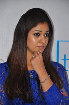 Nayanthara Hot Stills in Blue Dress