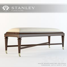 Stanley Furniture Co._Avalon Heights-Nash Bed End Bench