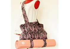 Yoga Mat Bag.Pretty patterned fabric .Cotton  Bag by ztomhomeshop, ฿1400.00
