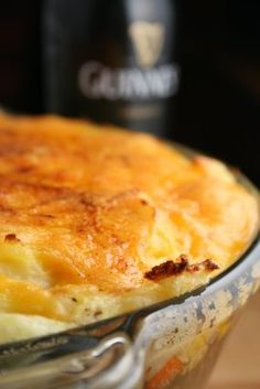 Guinness Shepherds Pie ~here she is in all her glory. Do you hear the bag pipes in the distance?? Or was that angels singing? What ever it was, you will hear glorious music when you bite into this casserole.