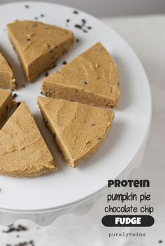 healthy pumpkin pie protein fudge
