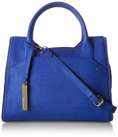 Vince Camuto Kylie Satchel Top Handle Bag,Dazzling Blue,One Size by Vince Camuto - XYS Online