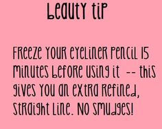 Freeze Eyeliner pencil for a Super Straight Line