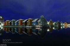 Reitdiephaven by Joram Krol http://ift.tt/1PwaAJe harbourjoramkrolgroningrn