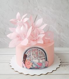 49 Best Ideas For Cupcakes Ideas Fondant Pretty Cakes, Cute Cakes, Beautiful Cakes, Fondant Cakes, Cupcake Cakes, Birthday Cake Decorating, Cake Birthday, Birthday Decorations, Girly Cakes