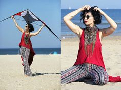 Get this look: http://lb.nu/look/7750474  More looks by Aleksandra L.: http://lb.nu/user/3153917-Aleksandra-L  Items in this look:  Free People Shirt, H&M Pants, Ray Ban Sunglasses, Promod Scarf   #bohemian #casual #romantic