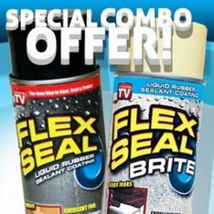 Flex Seal stops leaks fast! Flex Seal is a rubberized leak sealer that seeps into cracks and holes to seal out air and moisture. When dry, Flex Seal, as seen on TV, is a long-lasting, watertight, paintable, flexible rubber coating that won't sag, drip, crack or peel. It seals out water and lasts for years. One can treats 2 – 12 square feet. Flex Seal the easy way to coat, seal and protect. No need for prepping, works wet or dry.