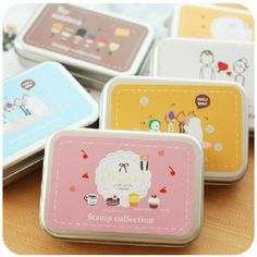 Free shipping happy life Vintage stamp kids stamps hand wood stamps 7*10cm € 7,41