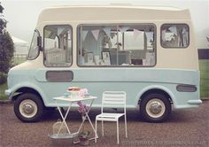 Kiss My cake is also home to 'Bluebelle' the vintage ice cream & Cupcake Van...our lovingly restored retro 1974 Bedford ice cream van which is available to hire for weddings and events!