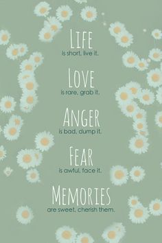 Word Art Print: Life, Love, Anger, Fear, Memories by rdprints on Etsy