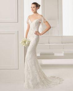 24 vestidos de novia preciosos para las más bajitas: Alarga la elegancia de tu estilismo al instante Image: 18
