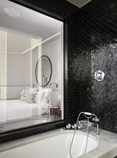 Black and White Bathroom by Sarah Lavoine