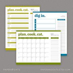 Meal Menu Planning Kit – Editable, Shopping Lists, Price Matching, Weekly Menu, Kitchen Organization // Household PDF Printables