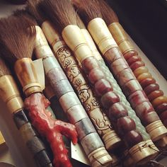 Antique Japanese calligraphy brushes