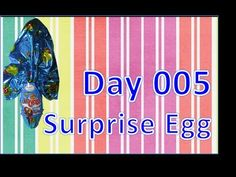 day 005 surprise egg kinder special easter toy giant chocolate - YouTube