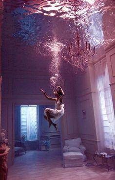 fotografia embaixo d'água