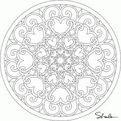 Valentine Mandalas- coloring pages