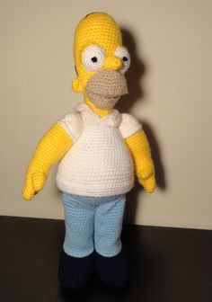 Homer Simpson Amigurumi toy by SandruxCrochet on Etsy