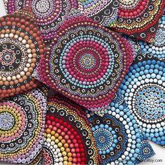 Fire Design Aboriginal Dot Art Painting by Biripi Artist