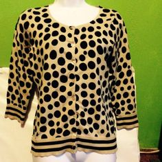 The Limited Black Spotted sweater The Limited Spotted sweater NWOT Limited Tops