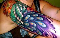 peacock tattoo http://activelifeessentials.com/body-canvas/ #bodyart #tattoos