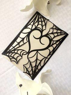 gothic spider web halloween wedding by ShimmeringCeremony on Etsy