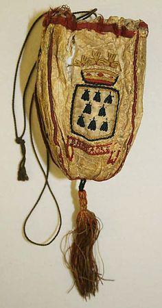 Date: 18th century Culture: French Medium: leather, silk Dimensions: Length (circum.): 7 in. (17.8 cm)