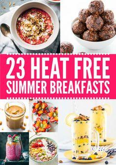 21 Heat-Free Summer Breakfasts