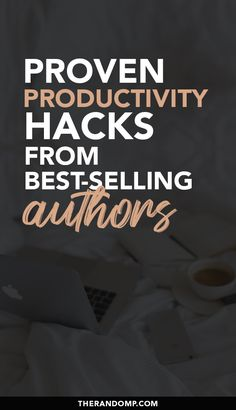 How to be more productive and get done more? Here are some proven productivity hacks from some of the best-selling authors! Improve your focus and learn to manage your energy for better productivity. #productivitytips #personalgrowth #goalsetting #workingfromhome #beingproductive