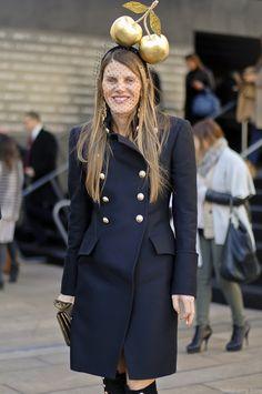 Anna Dello Russo in gold