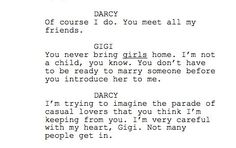 "The Lizzie Bennet Diaries. First Draft of a script. (The infamous ""parade of casual lovers"" line.)"