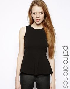 Black Peplum Top - ASOS