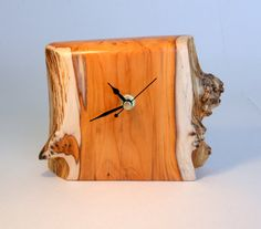 Hey, I found this really awesome Etsy listing at https://www.etsy.com/listing/182160899/hand-made-yew-wood-clock-by-tom-thumb