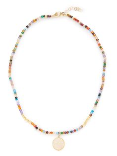 Multi-Color Round Pendant Necklace by Mary Louise Designs