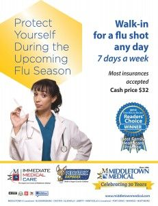 Walk-In Flu Shots Available 7 Days A Week.   middletownmedical.com