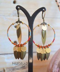 Boucles d'oreilles Hateya, collection Navajo L'Atelier des Misstinguettes -AVIGNON