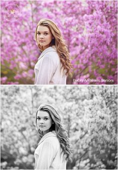 Beautiful senior girl with pink flowers #baseniors #kalamazoo