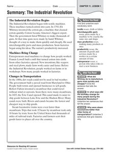 006 Industrial Revolution Inventions and Inventors Worksheet